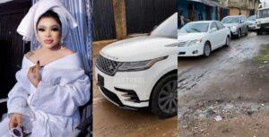 Bobrisky Heads Out In Convoy To Surprise His Father On His Birthday