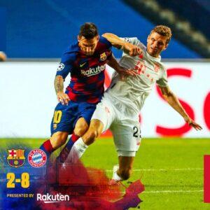 Barcelona 2 – 8 Bayern Munich highlight