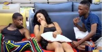 #BBNaija2020: Watch Neo's Reaction When Laycon Proposed To Erica In His Presence (Video)
