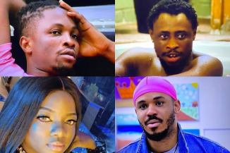 #BBNaija2020: Laycon, Ozo, Dorathy and Triky Tee Are The Four Housemates Up For Possible Eviction