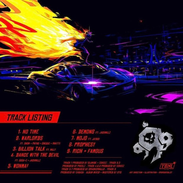 """WOW!!! Olamide Unveils Cover Artwork And Tracklists For His New Album """"999"""" (See Tracklists Here)"""