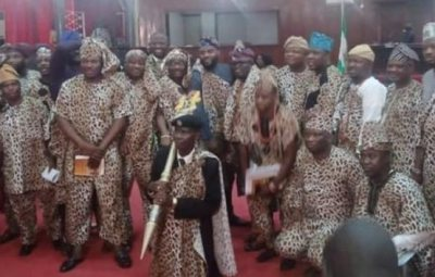 Oyo Lawmakers Dress In Amotekun Attire To Pass Bill Into Law (Photos)