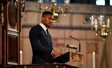 Anthony Joshua Brags About Being 'Yoruba' In Front Of Queen Elizabeth At Commonwealth Service (Video)