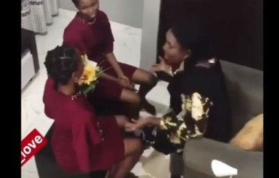 LWKMD!! This Yoruba Woman's Reaction After Her Children Played Pregnancy Prank On Her Is So Hilarious (WATCH VIDEO)