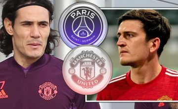 Cavani, Maguire Dropped as Manchester United Prepare for PSG Clash