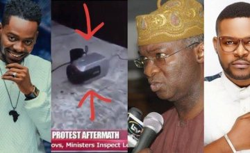 Falz, Adekunle Gold Reacts To Fashola's Discovery Of 'Hidden Camera' At The Lekki Toll Gate