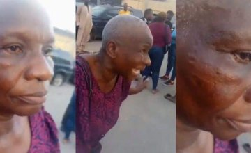 #EndSARS: Police Officer Allegedly Slaps Oxlade's Manager's Mother (Video)