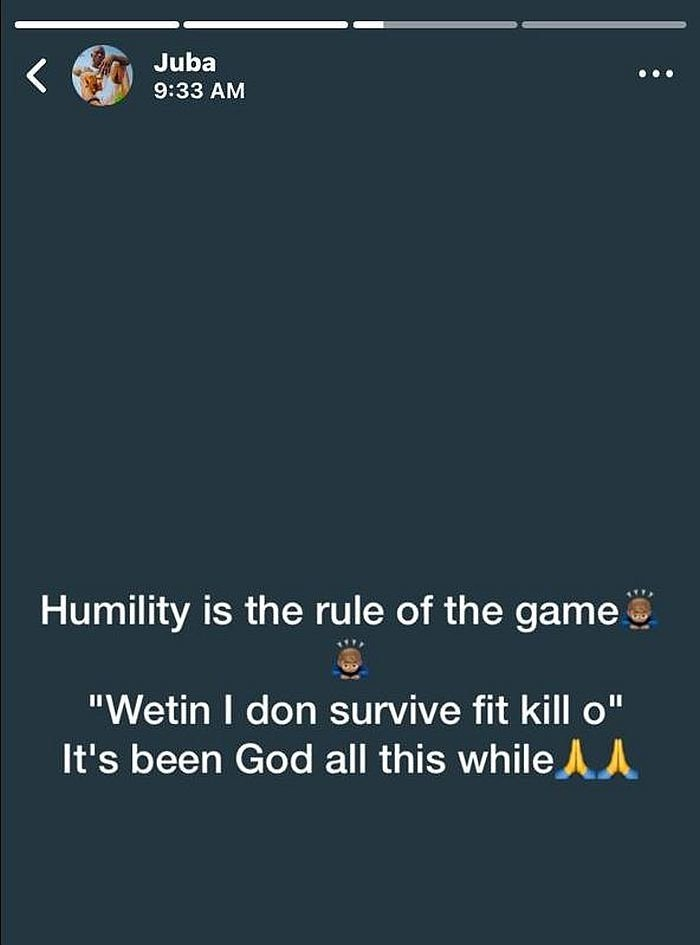 SO SAD!!! UNIOSUN Student, Ikire Campus Commit Suicide After Posting Motivational Quote On His WhatsApp Status (See Photo)