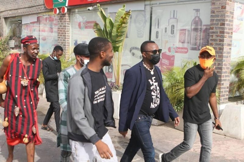 """The War Is Beyond The Physical As Man In """"Juju Dress"""" Follows Sowore To Court (Photos)"""