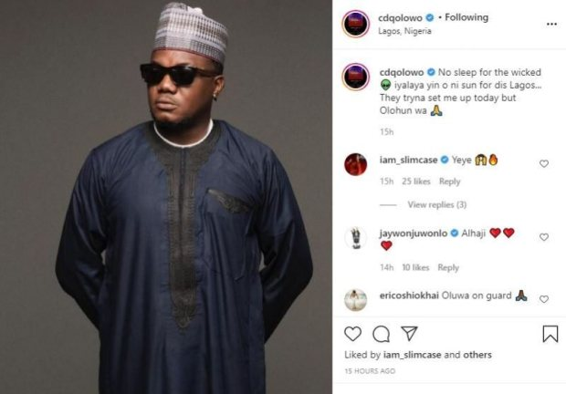 Rapper CDQ Was Arrested For Being In Possession Of Cannabis – NDLEA Gives Update
