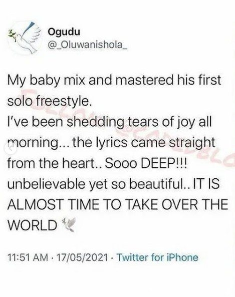 Wizkid's First Son, Boluwatife Set 'To Take Over The World' With The Release Of His First Single
