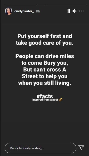 """""""People Can Drive Miles To Bury You But Can't Cross A Street To Help You"""" – Reality Star, Preaches Self-love"""