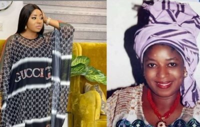 Reactions As Funmi Martins' Grave Gets Renovated by Friends, Calls out MIDE Martins
