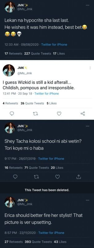 WAHALA!! Old Tweets Of New Housemate, JMK, Dissing Laycon, Erica, Wizkid & Tacha Surfaces