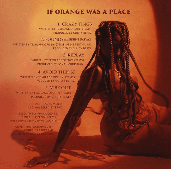 FULL EP: Tems – If Orange Was A Place