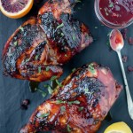 Grilled Chicken with a Cranberry Chipotle Citrus Glaze