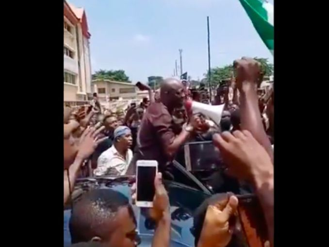 BREAKING: Governor Seyi Makinde Joins June 12 Protesters In Ibadan [See Photos]