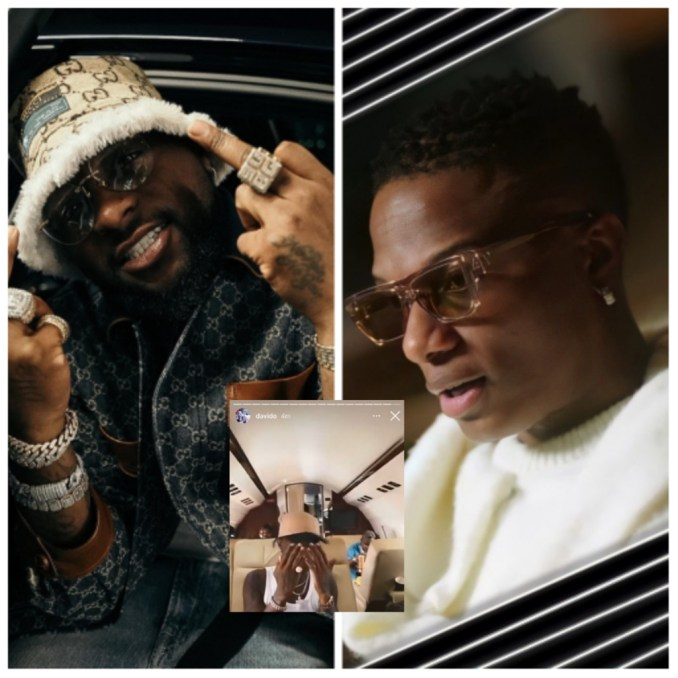celebrity news: Davido reposts a video of Wizkid sticking to his melody