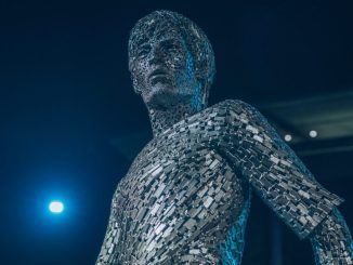 Manchester City unveils the Statue of David Silva and Vincent Company at the the front of the Etihad Stadium