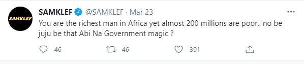 The Richest Man In Africa