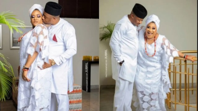'He treats and nurtures me like a child' Actress Nkechi Blessing celebrates her politician lover on father's day