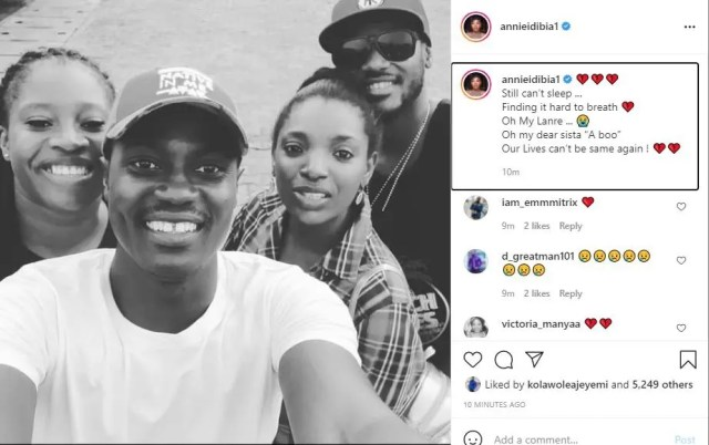 Sound Sultan: Still can't sleep, finding it hard to breath' Annie Idibia cries out