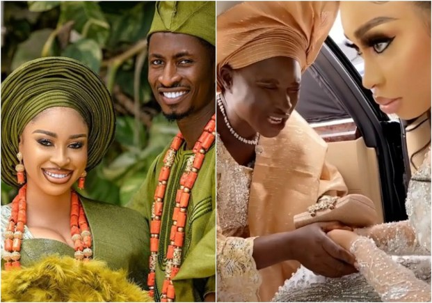 'Wicked and bitter soul everywhere' -Actress, Yetunde Barnabas reacts to a viral video where she gave her mother a 'dirty look' on her wedding day