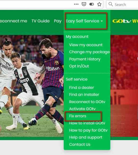 how to clear e16 error on gotv