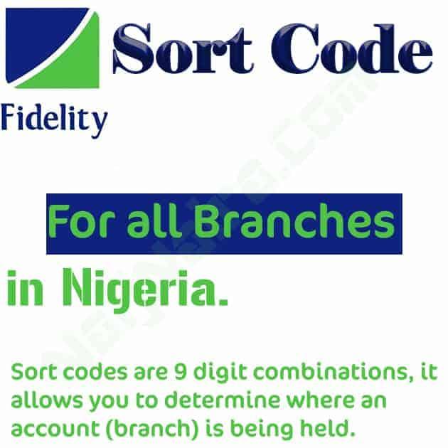 fidelity bank sort code