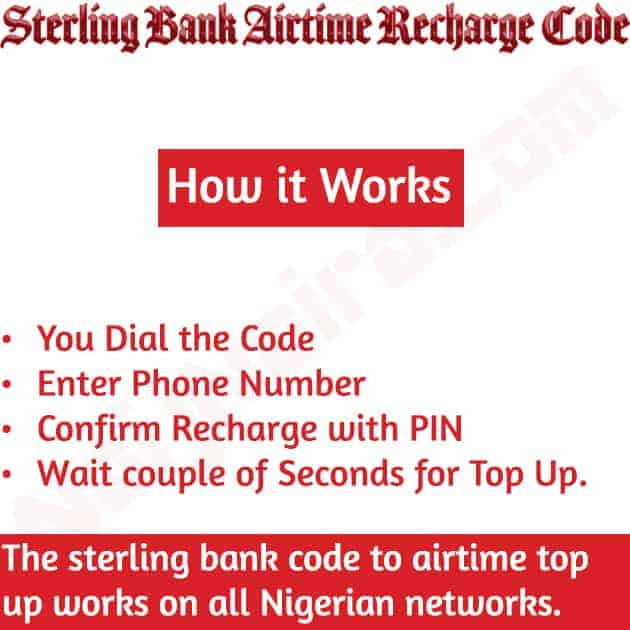 sterling bank airtime recharge code
