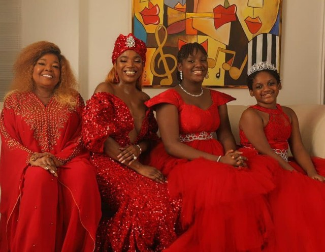 Three generations of beauty!! Annie Idibia poses with her mum and daughters in new photos