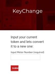 Key Change Token Ikeja electric