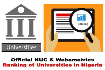 2020 Official NUC & Webometrics Ranking of Universities in Nigeria