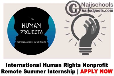 International Human Rights Nonprofit Remote Summer Internship 2020 | APPLY NOW