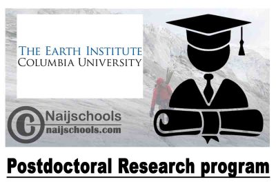 Earth Institute Postdoctoral Research program 2020-2022 at Columbia University (Paid Position)   APPLY NOW
