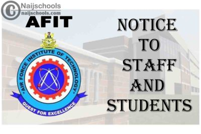 Air Force Institute of Technology (AFIT) Notice to Staff and Students | CHECK NOW