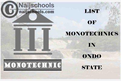 Full List of Accredited Monotechnics in Ondo State Nigeria