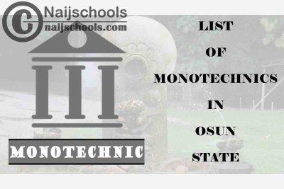 Full List of Accredited Monotechnics in Osun State Nigeria