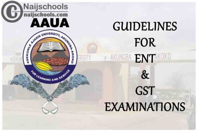 AAUA Guidelines for the Conduct of ENT & GST 2019/2020 First Semester CBT Examinations | CHECK NOW