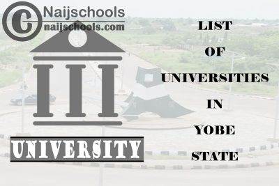 Full List of Federal, State & Private Universities in Yobe State Nigeria