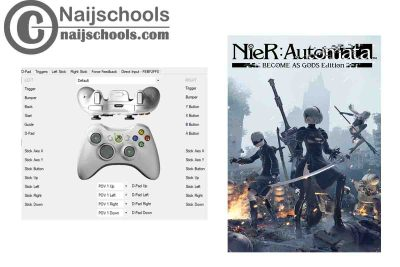 Nier: Automata X360ce Settings for Any PC Gamepad Controller | TESTED & WORKING