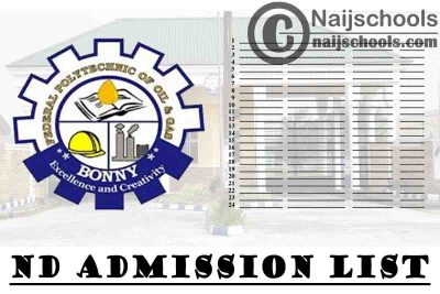 Federal Polytechnic of Oil & Gas (FPOG) Bonny ND Admission List for 2020/2021 Academic Session | CHECK NOW