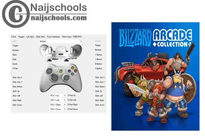 Blizzard Arcade Collection X360ce Settings for Any PC Gamepad Controller   TESTED & WORKING