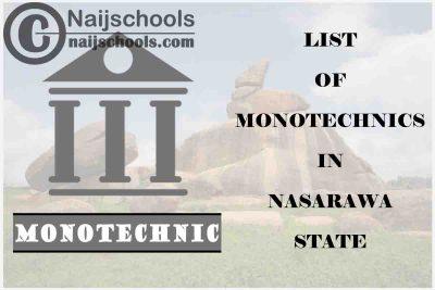 Full List of Accredited Monotechnics in Nasarawa State Nigeria