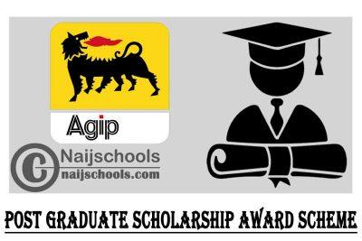Nigerian Agip Exploration (NAE) Limited Post Graduate Scholarship Award Scheme 2021/2022 | APPLY NOW