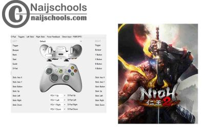 Nioh 2 X360ce Settings for Any PC Gamepad Controller | TESTED & WORKING