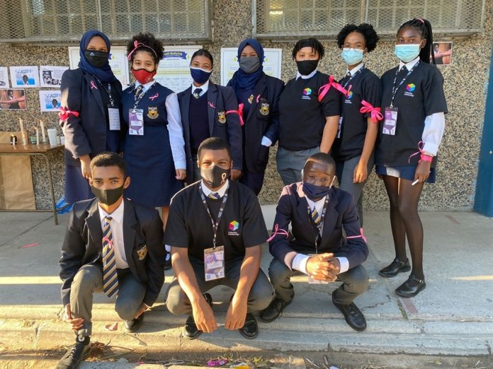 Pupils at Portland High School in Mitchell's Plain launch an anti-bullying pledge. Photo: Supplied