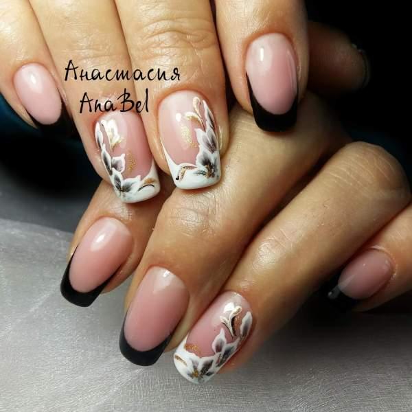 Дизайн ногтей - Маникюр французский на короткие ногти фото ...