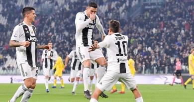Ювентус разгромил Фрозиноне. Роналду забил и сразу покинул поле.