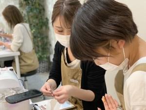 研修所 | 大理石アート柄練習風景 | 高品質で安いネイルサロンABCネイル 研修所
